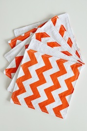Orange Chevron Wipes